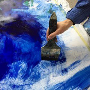 Pinsel auf Blau Christina Hanser